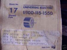 17 UNIVERSAL MOTOR 1/100  115V  1550RPM