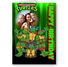 Personalised Photo TMNT Teenager Mutant Nija Turtles A5 Happy Birthday Card