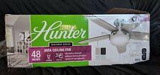 """Hunter Avia Low Profile 48"""" Ceiling Fan Reversible Blades/Remote GREY/DK WALNUT"""