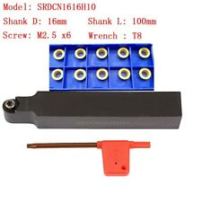 Srdcn1616h1016mm100mmlathe External Turning Tool Holder Rcmt10t3m0 Inserts