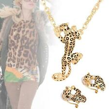 Leopard African Jewelry Sets Gold Plated Fashion Necklace Earrings For Women TL