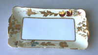 Haviland Limoges CFH GDM France Flowers Rectangle China Plates Collectible