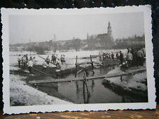 Photo argentique guerre 39 45 soldat Allemand wehrmacht WWII 2 pont provisoire
