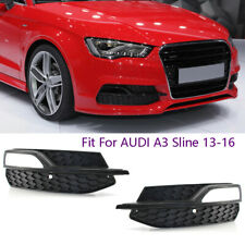 Fits For Audi A3 S3 S-Line 2013-16 Lower Bumper Fog Light Cover Grill Grille R&L