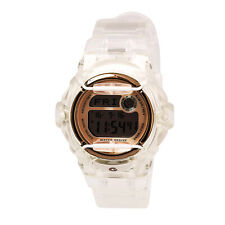 Casio Women's Watch Rose Gold and Grey Digital Dial Resin Strap BG169G-7B