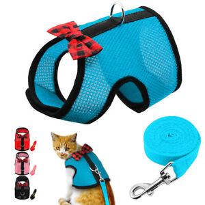 Escape Proof Pet Harness and Leash Puppy Cat Rabbit Mesh Padded Walking Vest S-L