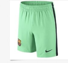 Barcelona Nike Football Shorts Green Glow (Kids) Medium