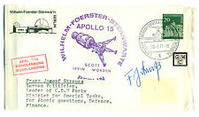 First Day Cover Signed by - Franz Josepf Strauss, German Politician