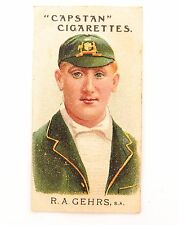 "1907 SCARCE WILLS CAPSTAN ""AUSTRALIAN AND ENGLISH CRICKETERS"" R A GEHRS NO 9"