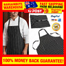 Professional Chefs Apron Black & White Striped Apron for Chef Waiter BBQ Cafe