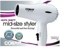 Conair 1875 Watt Mid-Size Styler Hair Dryer, White 1 ea