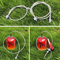 Outdoor Camping Gas Stove Propane Cylinder Refill Adapter Burner Hose Pipe