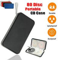 80 Disc CD DVD Album Hard Wallet Holder Bag Car Organizer Storage Case Portable