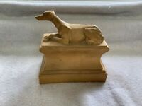Vintage Estate Find Greyhound Resin Statue Sculpture (as is)
