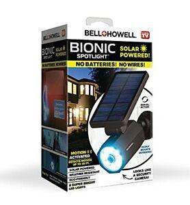Bell+Howell 2963 Bionic Spotlight Solar Spot 25 Feet Motion Sensor, Sun Black✓✓.