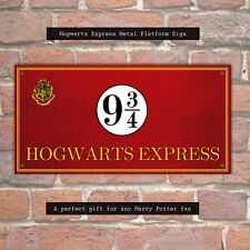 Hogwarts Express Metal SIGN-Harry Potter Regalo Placa Plataforma 9 signo de tren