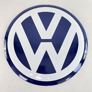 XL VW LOGO Volkswagen Ø 40 cm Emailschild Emaille Schild enamel sign