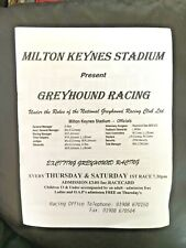MILTON KEYNES STADIUM GREYHOUND RACING PROGRAM RACE CARD 4TH JANUARY 1997 Closed