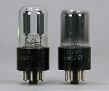 JAN 6SL7GT Tubes RCA 1950s Pair Military 6SL7 GT ~ Test Strong