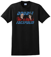Star Trek Comedy T-Shirt Double Face Palm Men's Funny T-Shirts