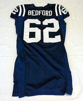 #62 David Bedford of Indianapolis Colts NFL Game Issued Jersey