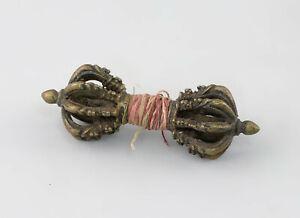 8639024 Dorje / Vajra Bronze Ritualzepter Tibet  L13cm