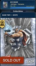 Topps Marvel Collect WHITE BASE TIER 1 Complete 100-Card + THOR AWARD