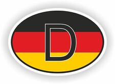 D Germany FLAG Country Code Oval Sticker Decal Self Adhesive german euro