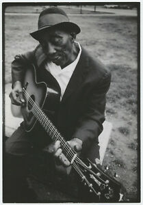 Bernard GOTFRYD: Mississippi John Hurt Playing Guitar, 1965 / VINTAGE / STAMPED!