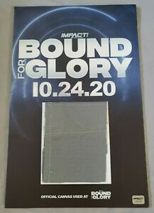 IMPACT Wrestling mounted 11x17 poster w/ Bound For Glory canvas swatch, Hologram