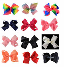 Blue Hair Bow Clips for Girls