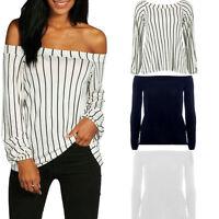 NEW Womens Blouse New Chiffon Long Sleeve Ladies Top T shirt Loose Short Tops