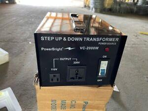 2000Watt Voltage Converter Transformer Step Up/Down 110V/120V/220V/240V