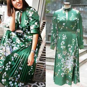 New Ted Baker London Jhenni Graceful Satin Midi Dress Green