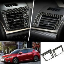 For Lexus CT200h 2011-2017 Black Carbon Fiber dashboard L&R air outlet vent trim