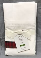 Pottery Barn Set/2 Love, Joy Christmas Standard Pillowcases