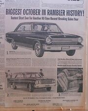 1963 newspaper ad for Rambler - '64 American, Cross Country, bucket seats photos