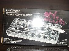 Vintage Royal Brighton Cranberry tray with stainless server
