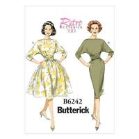 BUTTERICK SEWING PATTERN MISSES' RETRO VINTAGE 60s DRESS SIZE 6 - 22 B 6242