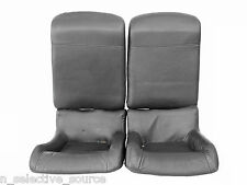 92-96 Honda Prelude S SI VTEC OEM JDM Black Leather Rear Seats Trim H22A BB1 BB4