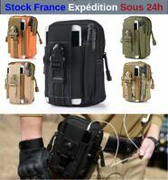 Sacoche de Ceinture Style Militaire Randonnée Scout Trekking Camping Smartphone