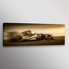 "Lewis Hamilton Formula 1 McLaren Racecar Car Photo Wall Art Canvas Print 12""x36"""