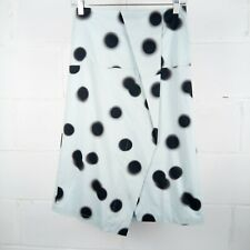 Marc By Marc Jacobs Midi Skirt Women Size 2 Blue Black Blurred Dot