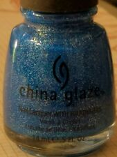 China Glaze Nail Polish Lacquer Blue Sparrow Neon 5 oz New + free gift NEW