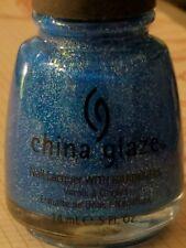 China Glaze Nail Polish Lacquer Blue Sparrow Neon 5 oz New + free gift NEW