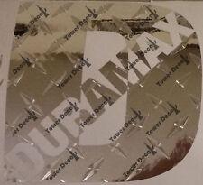 """DURAMAX """"D"""" Diamond Plate vinyl sticker decals 8"""" fits: Chevy  GMC Sierra"""