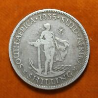 KM# 17.3 - One Shilling - George V - South Africa 1935 (VF)
