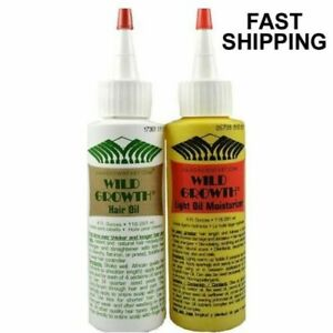 Wild Growth Hair Oil/ Light Oil Moisturizer DUO 4oz  (Authentic & Fast Shipping)