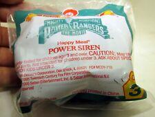 Happy Meal Power Siren McDonald's 1995  - NEW Power Rangers Movie