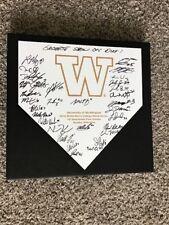 Washigton Huskies 2018 College World Series team Signed 14' Home Plate #3